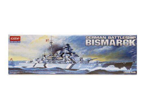 Academy Bismarck Battleship (Motorized) 1:800 (14208)