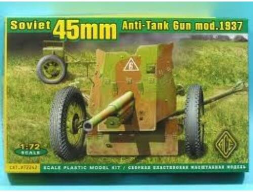 ACE Soviet 45mm AT gun model 1937 1:72 (72242)