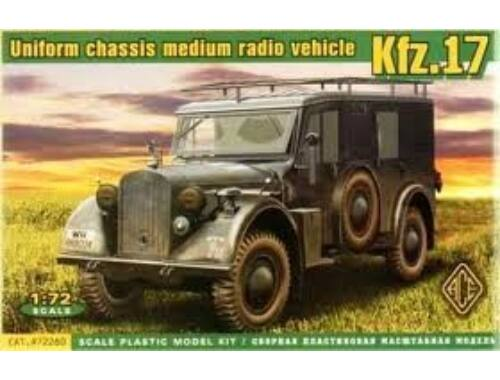ACE Kfz.17 - uniform chassis medium radio vehicle 1:72 (72260)