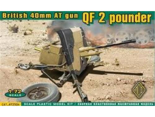 ACE QF 2 pounder British 40mm AT gun 1:72 (72504)