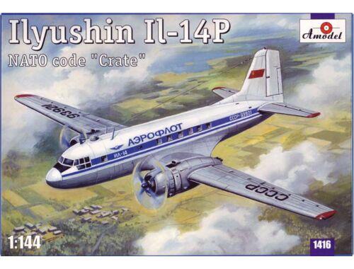 Amodel Ilyushin IL-14P Crate Soviet civil airc. 1:144 (1416)