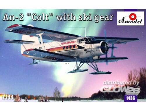 Amodel Antonov An-2 'Colt' with ski gear 1:144 (1436)