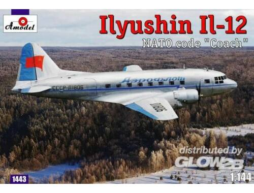 Amodel Ilyushin IL-12 'Coach' Soviet cargo air. 1:144 (1443)