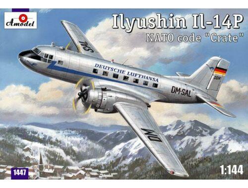 Amodel Ilyushin IL-14P DDR Lufthansa civil airc 1:144 (1447)