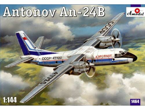 Amodel Antonov An-24B passenger airliner 1:144 (1464)