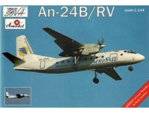 Amodel Antonov An-24B/RV Ukrainian airlines 1:144 (1464-01)