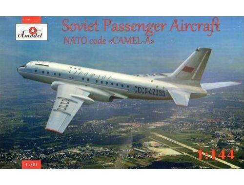 Amodel Tupolev Tu-104 airliner, Aeroflot 1:144 (1469)