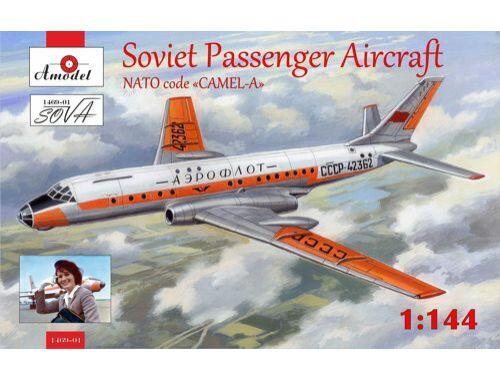 Amodel Tupolev Tu-104 airliner,Aeroflot, kit2 1:144 (1469-01)