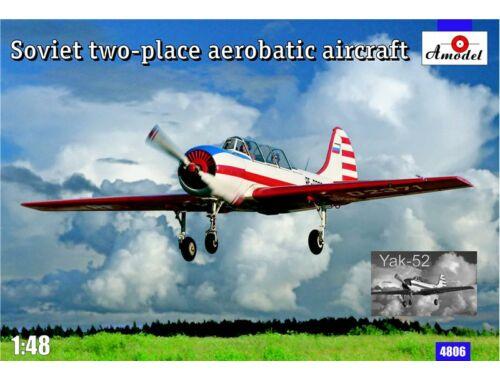 Amodel Yak-52 Soviet two-seat aerobatic airc. 1:48 (4806)