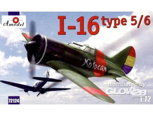 Amodel I-16 type 5/6 Soviet fighter 1:72 (72124)