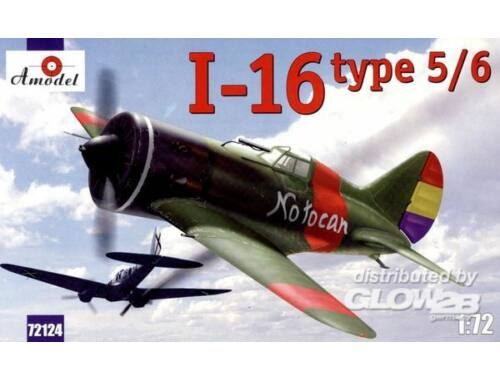 Amodel I-16 type 5/6 Soviet fighter 1:72 (72124)