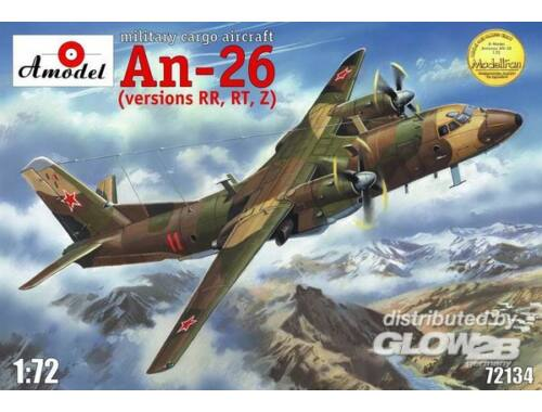 Amodel Antonov An-26 RR,RT,Z version, military 1:72 (72134)