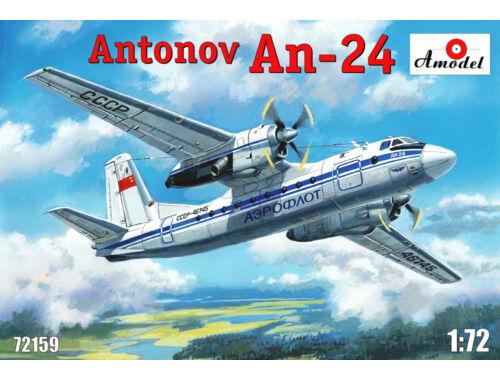 Amodel Antonov An-24 civil aircraft 1:72 (72159)