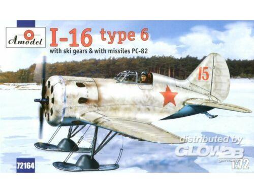 Amodel Polikarpov I-16 type 6 Soviet fighter 1:72 (72164)