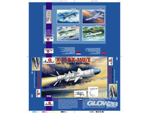 Amodel Kh-35   Kh-35U/E (AS-20 Kayak) Sov. guid 1:72 (72173)