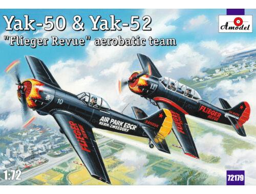 Amodel Yak-50   Yak-52 'Flieger Revue' aerobati 1:72 (72179)