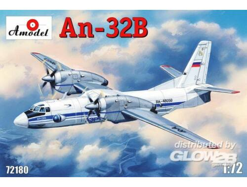 Amodel Antonov An-32B civil aircraft 1:72 (72180)