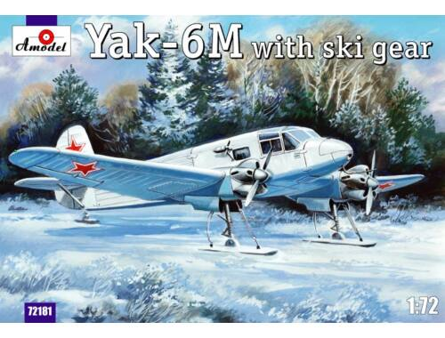 Amodel Yakovlev Yak-6M with ski gear 1:72 (72181)