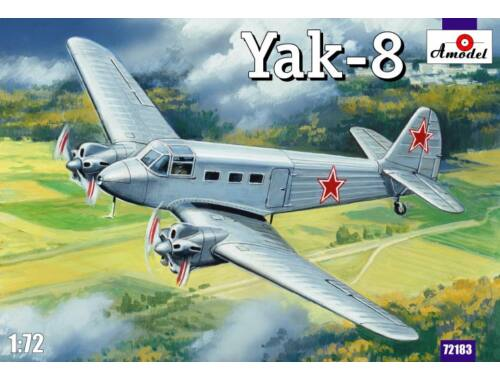 Amodel Yakovlev Yak-8 Soviet passenger aircraft 1:72 (72183)