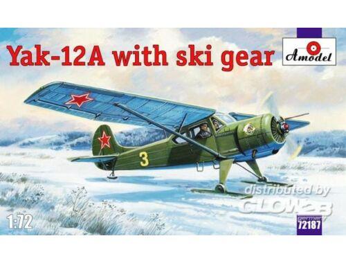 Amodel Yakovlev Yak-12A with ski gear 1:72 (72187)
