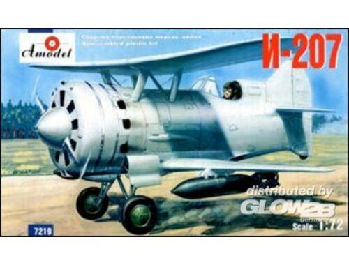 Amodel I-207 Soviet biplane fighter 1:72 (7219)