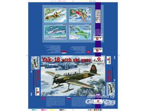 Amodel Yak-18 with ski gear 1:72 (72195)