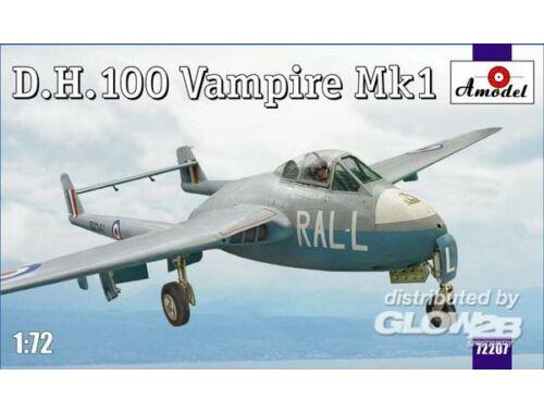 Amodel D.H.100 Vampire Mk1 RAF jet fighter 1:72 (72207)