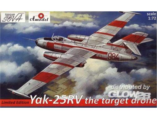 Amodel Yakovlev Yak-25RV target dron (lim.ed.) 1:72 (72212-01)