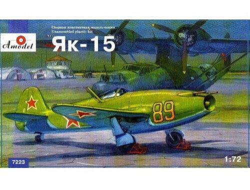 Amodel Yakovlev Yak-15 Soviet jet fighter.Relea Limited quantity 1:72 (7223)
