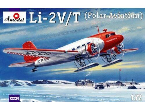 Amodel Lisunov Li-2V/T Soviet polar aircraft 1:72 (72234)