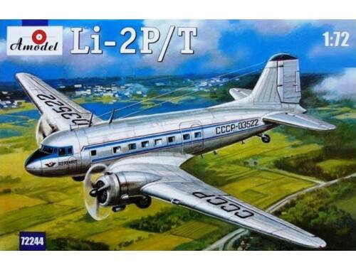 Amodel Lisunov Li-2P/T Soviet passenger aircraf 1:72 (72244)
