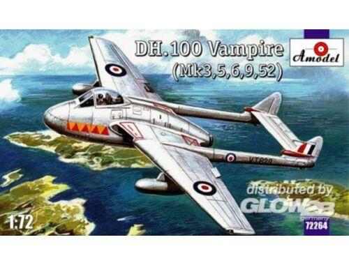 Amodel de Havilland DH.100 Vampire 1:72 (72264)