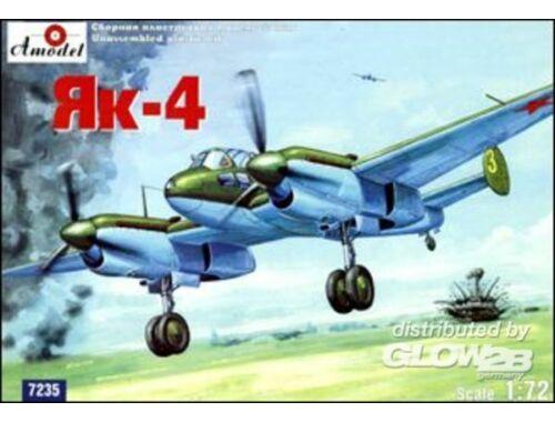 Amodel Yakovlev Yak-4 Soviet WWII bomber 1:72 (7235)