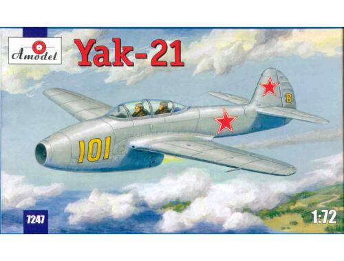 Amodel Yakovlev Yak-21 Soviet jet fighter 1:72 (7247)