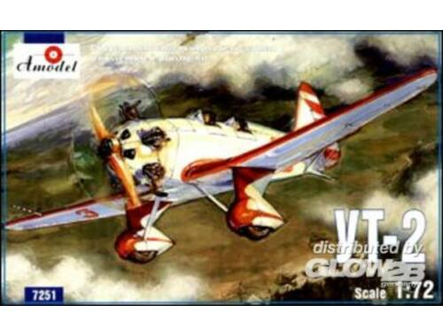 Amodel Ut-2 Soviet trainer airplane 1:72 (7251)