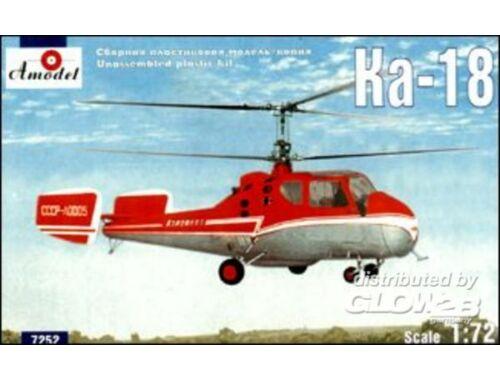Amodel Kamov Ka-18 Soviet civil helicopter 1:72 (7252)