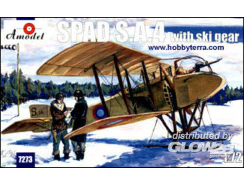 Amodel SPAD S.A.4 with ski gear 1:72 (7273)