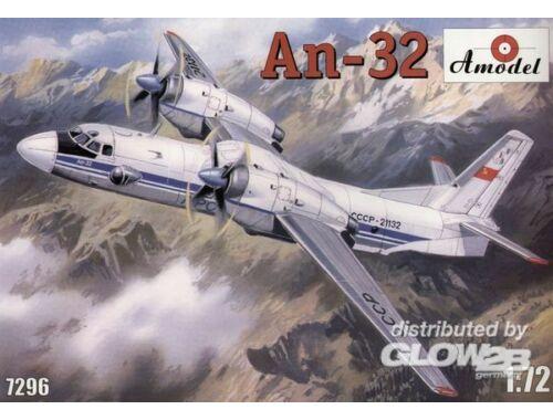 Amodel Antonov An-32 Soviet transport aircraft 1:72 (7296)