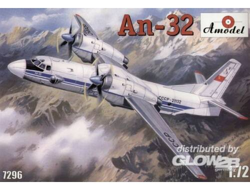 Amodel Antonov An-32 Soviet transport aircraft 1:72 (7296)