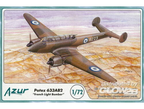 Azur Potez 633 French Light Bomber 1:72 (A085)