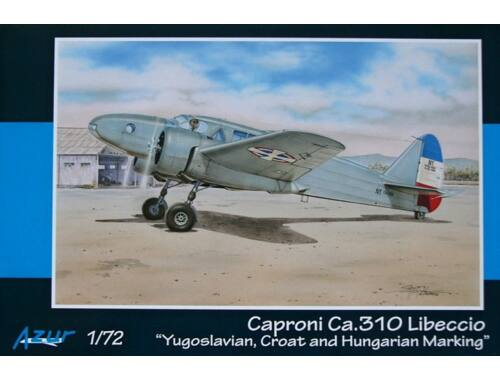 Azur Caproni Ca.310 Libecco Yugo.,Croat   Hung. Mark. 1:72 (A088)