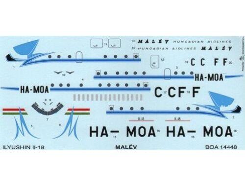 BOA Decal Ilyushin IL-18 Malév HA-MOA (14448)