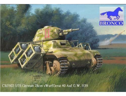 Bronco German 28cm Swurfgerat 40 Auf G.W.H39 1:35 (CB35002)