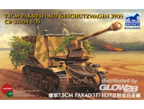 Bronco 7.5cm Pak40(Sf) auf Geschutzwagen 39H(f) 1:35 (CB35004)