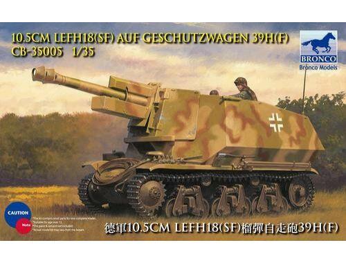 Bronco 10.5cm leFH18(Sf) a.Geschutzwagen 39H(f 1:35 (CB35005)
