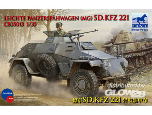 Bronco Sdkfz 221 Armored Car 1:35 (CB35013)