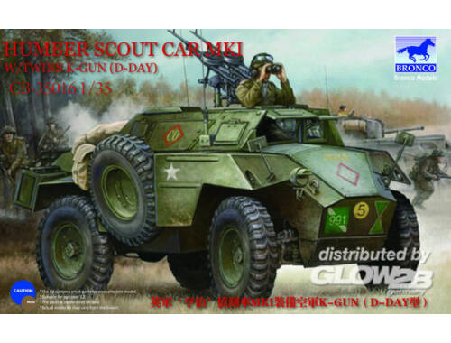 Bronco Humber Scout Car Mk.I w/twin k-gun (D-day version) 1:35 (CB35016)