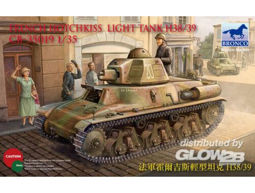 Bronco French H38/39 Light tank ( 2 versions) 1:35 (CB35019)