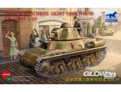 Bronco French H38/39 Light tank ( 2 versions) 1:35 (CB35019)