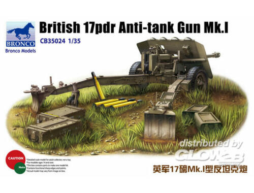 Bronco British 17pdr Anti-tank gun Mk.I 1:35 (CB35024)
